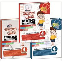 Class 4- Olympiad Champs Science, Mathematics, English Class 4 (set of 3 books) + Subscription to GLOWSOT & GLOWMOT