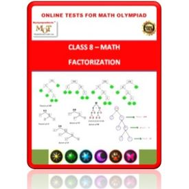 Class 8, Factorization, Online test for Math Olympiad