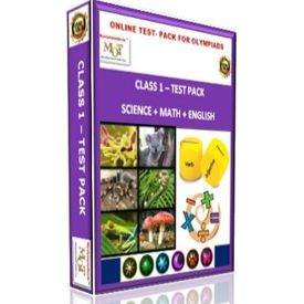 Class 1, Online test pack, Math+ Science+ English