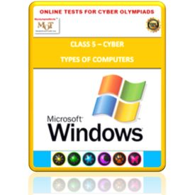 Class 5, Using windows, Online test for Cyber Olympiad