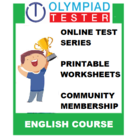 Class 6 English Olympiad Course (Online test series+ Printable Worksheets+ Community Membership)