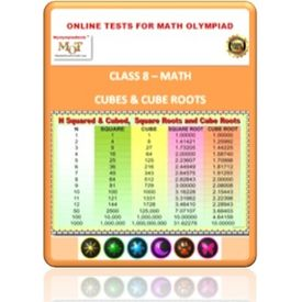 Class 8, Cubes & Cube roots, Online test for Math Olympiad