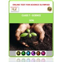 Class 7, Soil, Online test for Science Olympiad