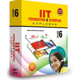 Class 6- IIT foundation, Combipack (Set of 4 books) + Free Online tests for Science & Math