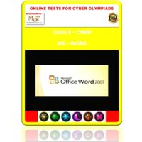 Class 5, MS Word, Online test for Cyber Olympiad