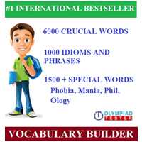 English Vocabulary Olympiad Guide with 7500 critical words and 1000 phrases