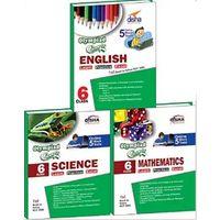 Class 6- Olympiad Champs Science, Mathematics, English (set of 3 books) + Subscription to GLOWMOT & GLOWSOT