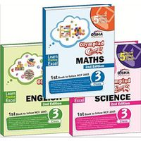 Olympiad Champs Science, Mathematics, English Class 3 (set of 3 books) + Subscription to GLOWSOT & GLOWMOT