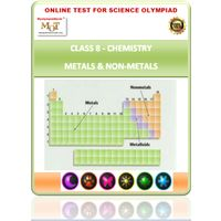 Class 8, Metals & Non metals, Science Olympiad online test,