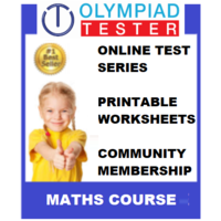 Class 2 Maths Olympiad Course- (Online test series+ Printable worksheets+ Community Membership)
