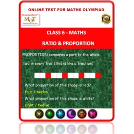 Class 6, Ratio & Proportion, Online test for Math Olympiad