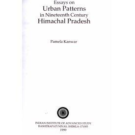 Essays on Urban patterns in ninteenth Century himachal pradesh