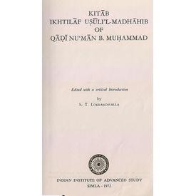 K. Ikhtilaf USULI L Madhahib