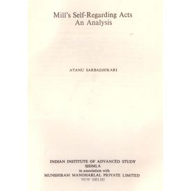 Millí s Self Regarding Acts: An Analysis