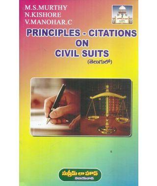 Principle- Citations On Civil Suits