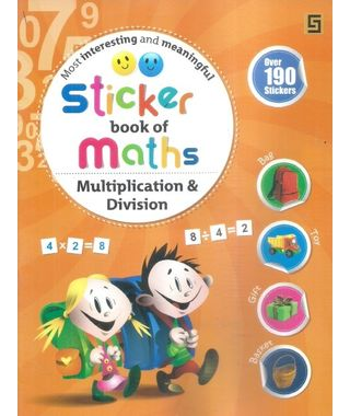 Sticker Book Of Maths Multiplication & Division