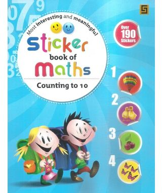 Sticker Book Of Maths Counting to 10