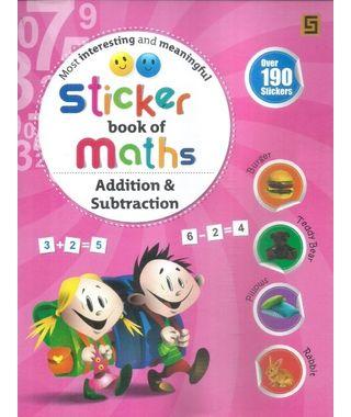 Sticker Book Of Maths Addition & Subtraction