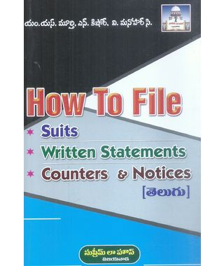 How To File Suits Written Statements Counters And Notices