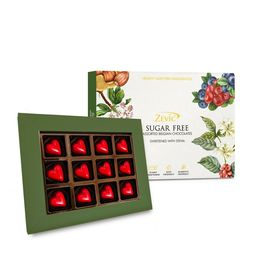 Zevic Healthy Strawberry Hearts Gift Pack - Sugar Free 120 gm