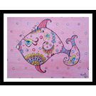 ABSTRACT PAINTING - THE LAZY FISH by THE NEWLIFE SHOP