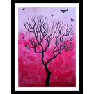 ABSTRACT PAINTING - CRIMSON LONER by THE NEWLIFE SHOP