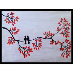 ABSTRACT PAINTING - U AND I by THE NEWLIFE SHOP