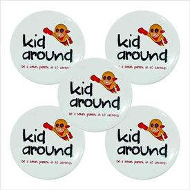 44mm/58mm 500 pcs Personalized Smiley Button Badges