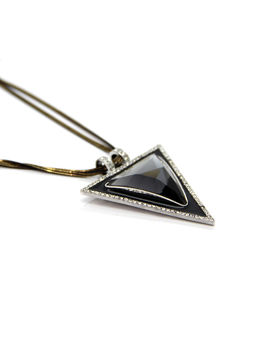 Eternz antique long chain with a triangular pendant for Women