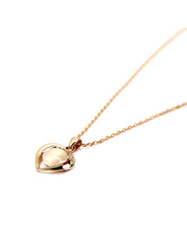 Eternz suave collection rose gold plated short chain with heart shaped crystal pendant for women
