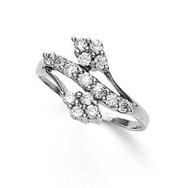 Classy White CZ Silver Finger Ring-FRL043