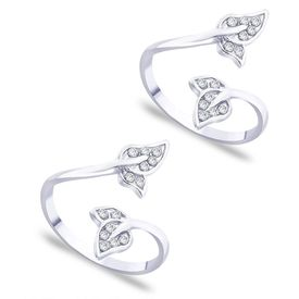 Upper Openable Double Leaf Toe Ring-TR234