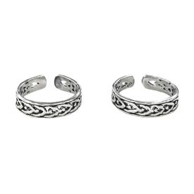 Rope Silver Casted Toe Ring-TR295