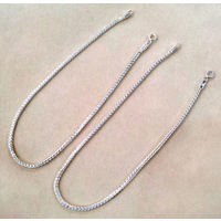 Ideal Plain Chain Silver Anklets-ANK005