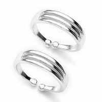 Splendid Plain Silver Toe Rings-TR197