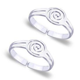 Spiral Pattern Toe Ring-TR188
