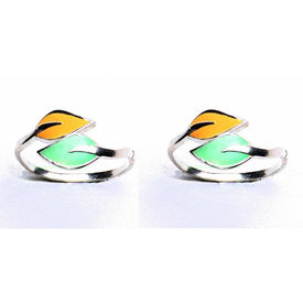 Top Openable Leaf Silver Toe Rings-TRAC001