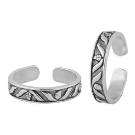 Antique Finish Silver Toe Ring-TR316