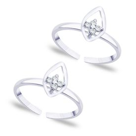 Top Leaf Silver Toe Ring-TR255