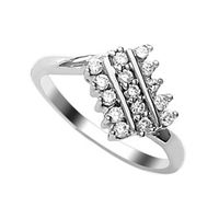 Lovely CZ Silver Finger Ring-FRL047, 14