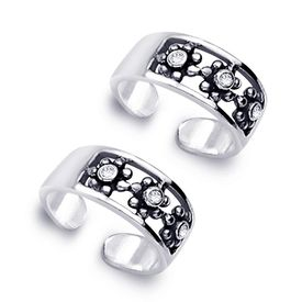 Glam Silver Toe Ring-TR229