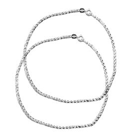 Rope Chain Sterling Silver Anklets-ANK009