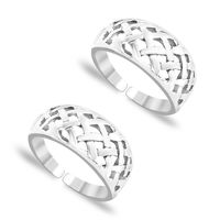 Spectacular Cutwork Silver Toe Ring-TR89