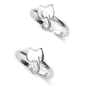 Flower Petals Silver Toe Ring-TR331
