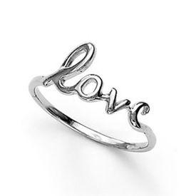 Charming Love Silver Finger Ring-FRL036