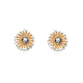 Yellow Diasy Flower Silver Tops-ER031