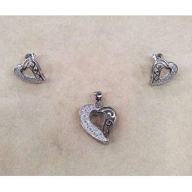 Lil Heartiest Silver Zircon Sets-PDS014