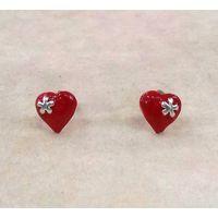 Heart Silver Studs-ER046