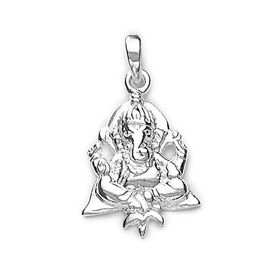 Divine Gajanan Silver Pendant-PD086