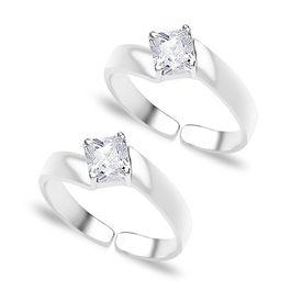 White Zircon Toe Rings-TR180